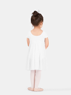 Girls Cap Sleeve Empire Dress