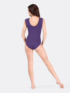 Adult Mesh Insert Cap Sleeve Leotard