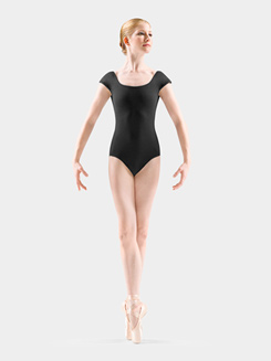 Diamond Knot Back Cap Sleeve Leotard