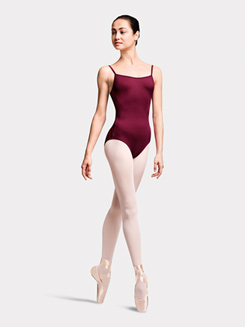 Adult Triangle Panel V-Back Camisole Leotard