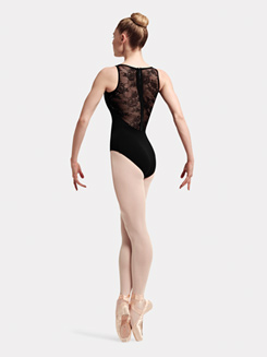 Adult Elah Tank Lace & Ribbon Zip Back Leotard