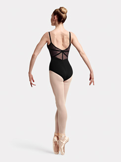 Adult Eyal Camisole Lace & Ribbon Paneled Leotard