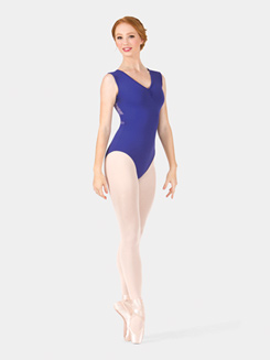Adult Tank Pinch Front Lace Leotard
