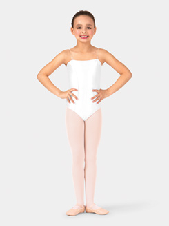 Girls Camisole Satin Basic Leotard