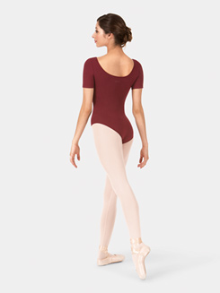 Adult Brushed Cotton Short Sleeve Leotard