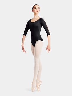 Adult Open Back 3/4 Sleeve Leotard