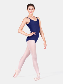 Adult Princess Seam Cotton Camisole Dance Leotard 