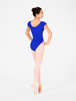 Adult Pinch Front Cap Sleeve Leotard 