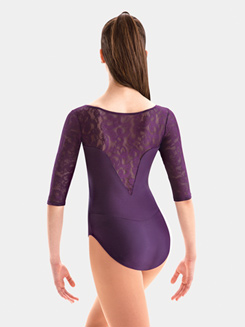 Adult Lace 3/4 Sleeve Leotard