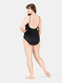 Adult Plus Size Camisole Leotard with Padded Cups