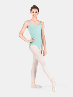 Adult Pinch Front Loop Back Camisole Leotard