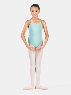 Girls Pinch Front Loop Back Camisole Leotard
