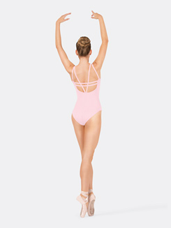 Adult Grid Back Double Camisole Leotard