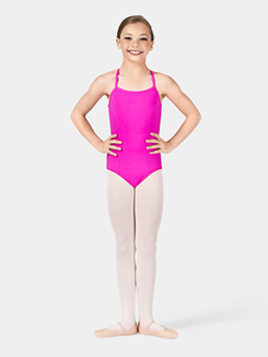 Girls Camisole Leotard with Lattice Back