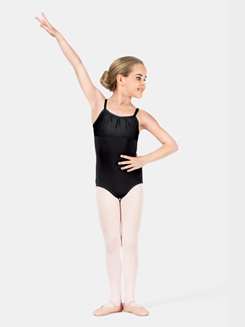 Girls Camisole Gathered Bodice Leotard