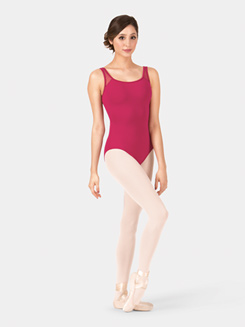 Adult Tank Flocked Mesh Leotard