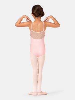 Child Camisole Bow Mesh Leotard