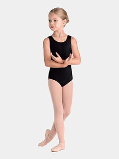 Girls Lattice Elastic Trim Tank Leotard