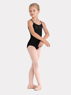 Girls Camisole Daisy Sequin Bust Leotard