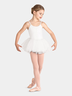 Girls Lace Back Camisole Tutu Dress