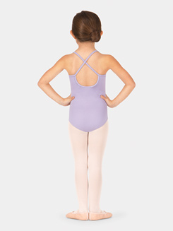 Child Lace Front X-Back Camisole Leotard