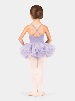 Child Sequin Pleated Mesh Camisole Tutu Dress