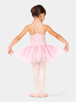 Girls Heart Mesh Camisole Tutu Dress