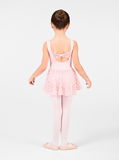 Child Bow Back Skirted Leotard 