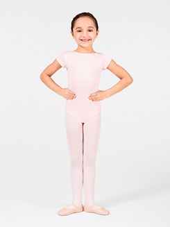 Child Keyhole Back Cap Sleeve Leotard