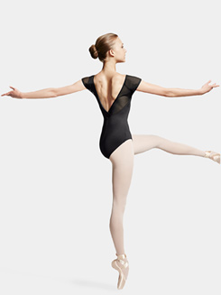 Adult Cap Sleeve Tulle Leotard