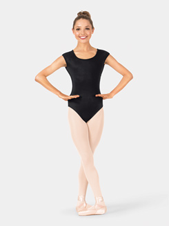 Adult Mesh Cap Sleeve Leotard