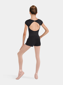 Girls Draped Dance Short with Applique