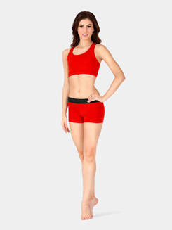Adult Elastic Waist Dance Shorts