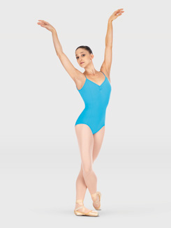 Transition Camisole Leotard With Pinch Front