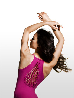Adult Jozette Shirred Back Camisole Dance Leotard