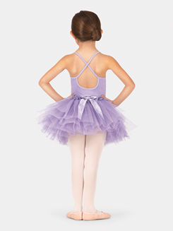 Child Lace Peplum Tutu Skirt