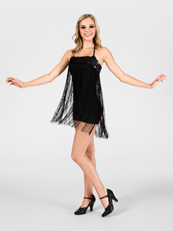 Adult Black Fringe Skirt/Overdress