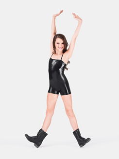 Child Metallic Shorty Camisole Unitard