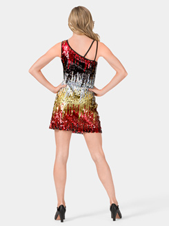Sequin Dress with One Shoulder