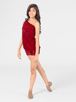 Adult One Shoulder Sequin Top 