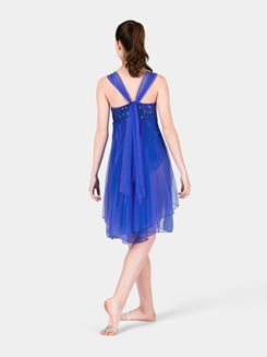 Adult Sequin Bodice Chiffon Dress