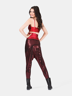 Adult Harem Pant with Metallic Dots