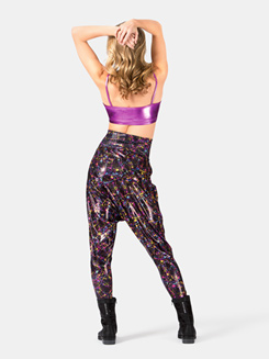 Adult High Waist Foil Splatter Harem Pants