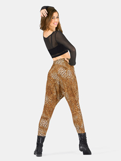 Adult Cheetah High Waist Harem Pant