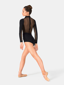 Adult Pleather Collared Shorty Unitard