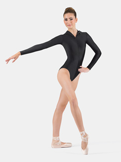 Adult Hooded Long Sleeve Leotard
