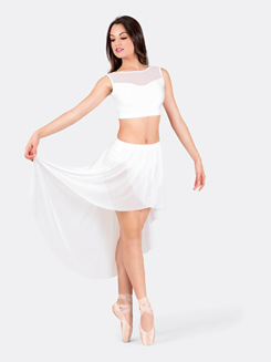 Adult Emballe Tank Mesh Bodice Crop Top