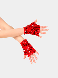 Child Fingerless Sequin Mitts