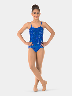 Child Sequin Camisole Performance Leotard