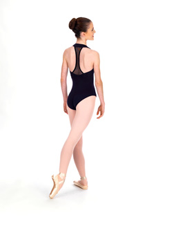 Adult Zipper Front Halter Dance Leotard